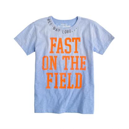 Boys' fast on the field tee