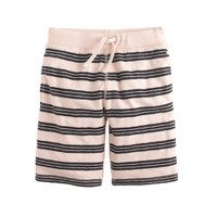 Boys' pull-on knit short in navy stripe