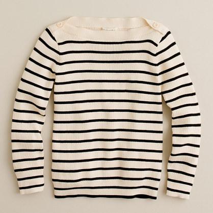 Girls' skinny-rib stripe popover