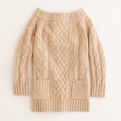 Girls' cozy cable popover