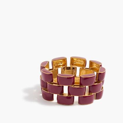 Enamel ladder bracelet