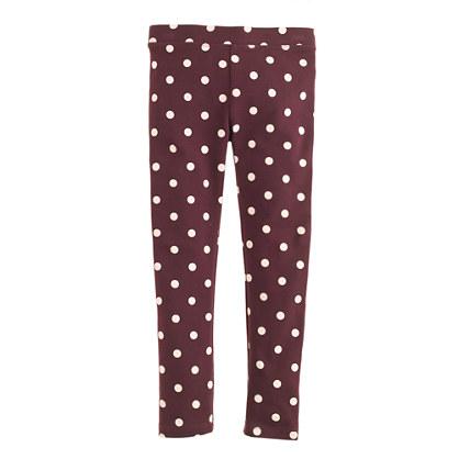 Girls' everyday leggings in polka dot