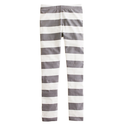 Girls' everyday leggings in rugby stripe