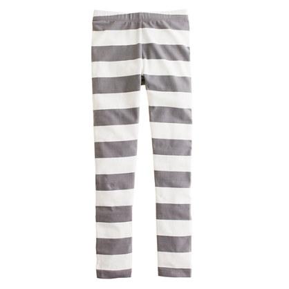 Girls' everyday leggings in rugby stripe