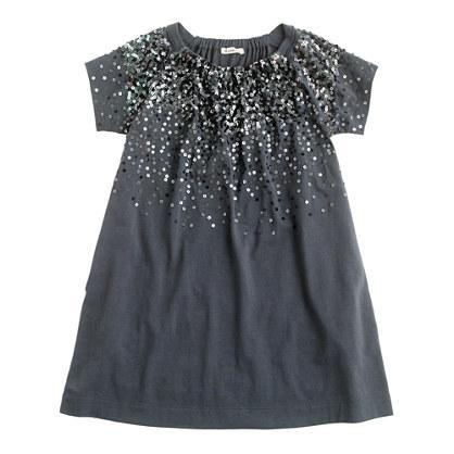 Girls' sequin splash dress