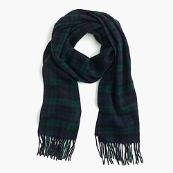 Cashmere scarf in plaid