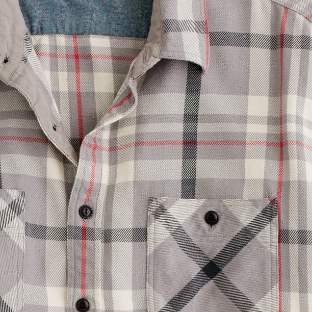 Wallace & Barnes heavyweight flannel shirt in Guston plaid