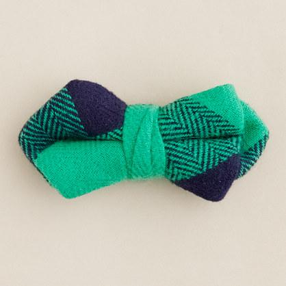 Boys' buffalo check bow tie