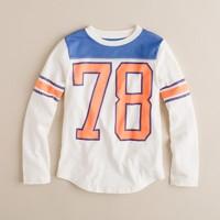Boys' long-sleeve #78 football tee