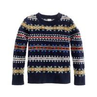 Boys' lambswool Fair Isle sweater