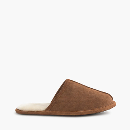 Men 39 s shearling scuffs slippers j crew for J crew bedroom slippers