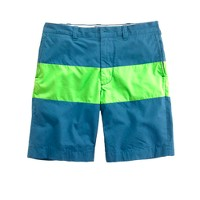 "9"" Stanton short in lime colorblock"
