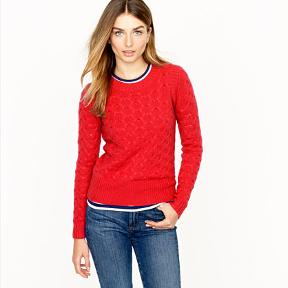 Honeycomb cable sweater
