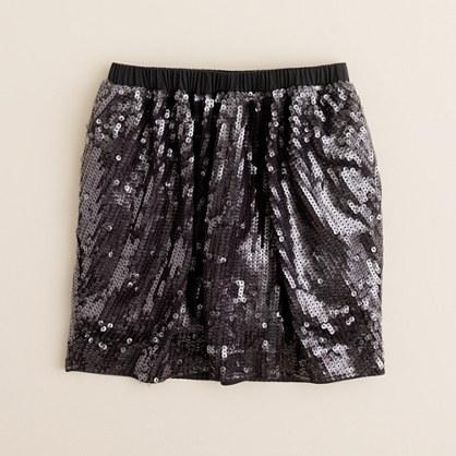 Girls' sequin shimmer skirt