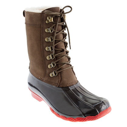 Sperry Top Sider for J Crew tall Shearwater boots