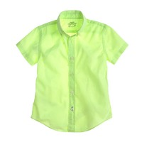 Boys' Secret Wash short-sleeve shirt in solid