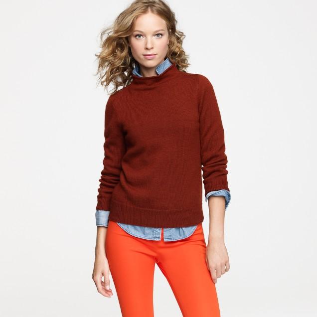Minimalist mockneck sweater