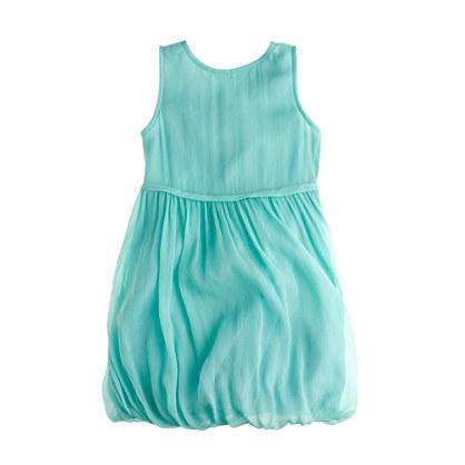 Girls' crinkle chiffon bubble dress