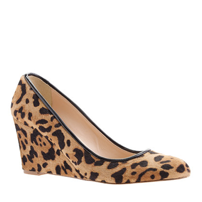 Martina calf hair wedges