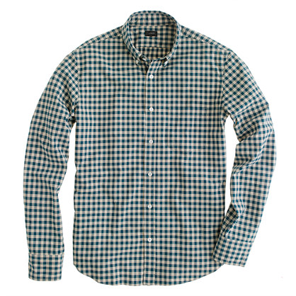 Slim Secret Wash button-down shirt in Addison gingham