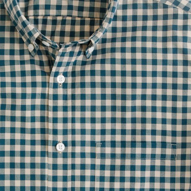 Secret Wash button-down shirt in Addison gingham