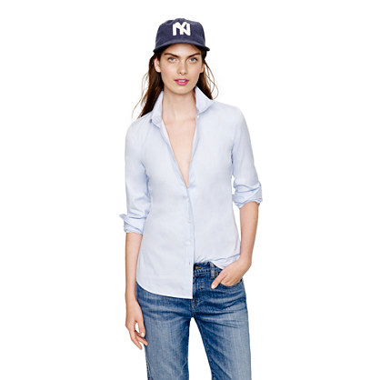 Stretch perfect shirt in end-on-end
