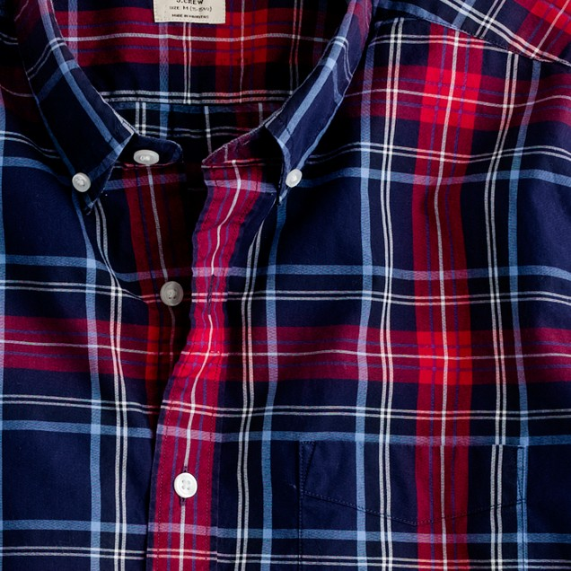 Secret Wash button-down shirt in Emmet tartan