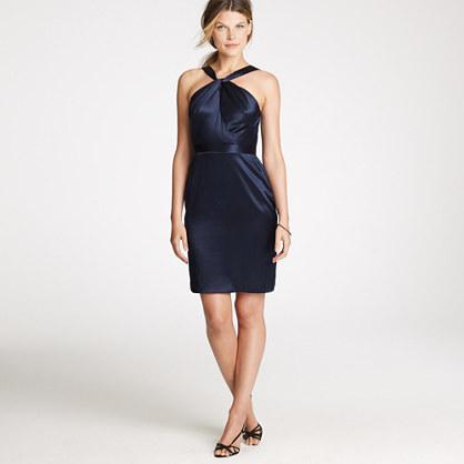 Sinclair dress in silk satin