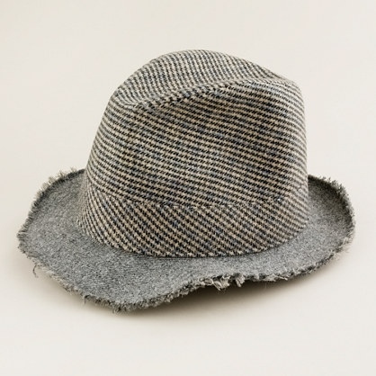 Two-tweed fedora in sepia
