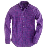 Slim Secret Wash shirt in bicolor mini-gingham