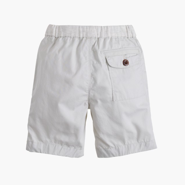 Boys' pull-on lightweight chino short