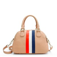 Biennial medium satchel in stripe