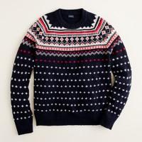 Lambswool Fair Isle sweater in navy
