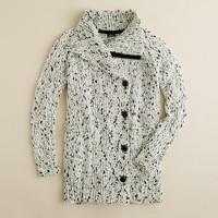 Snowden funnelneck sweater-jacket