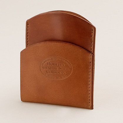 Bucktown shell cordovan front-pocket wallet