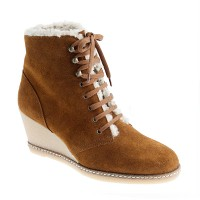 MacAlister shearling wedge boots