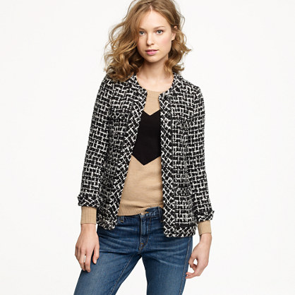 Cherie jacket in shimmer tweed