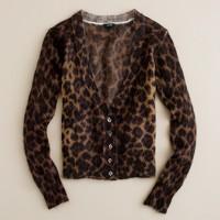 Mohair cardigan in leopard