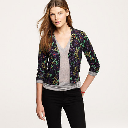 Jenna's cardigan in nightfall floral
