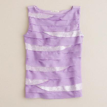 Girls' silk 'n' sequin tank