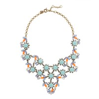 Pastel and neon statement necklace