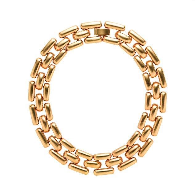 Golden gears necklace