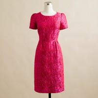 Marla dress in gardenia jacquard