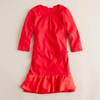 Girls' city tee ruffle dress