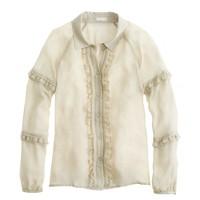 Collection ruffle collar shirt