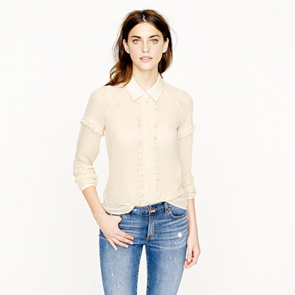 Collection ruffle collar shirt