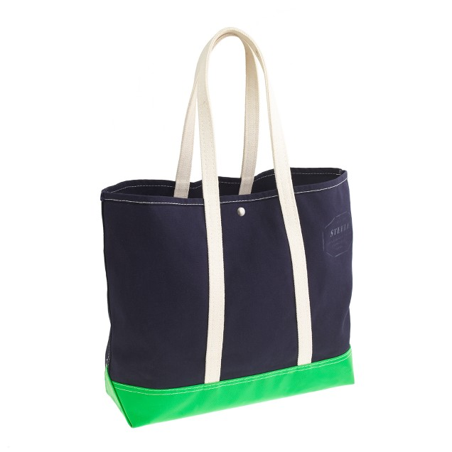 Steele Canvas Basket Corp.™ for J.Crew colorblock coal bag