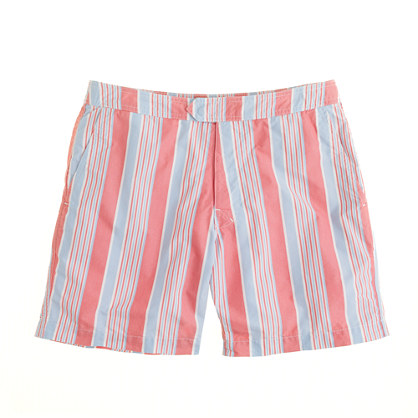 "7"" swim short in marina stripe"