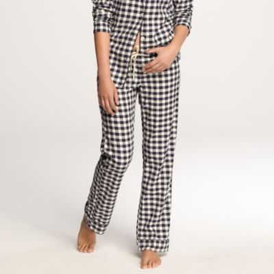 Tall flannel pajama pant in gingham : Women pajamas | J.Crew
