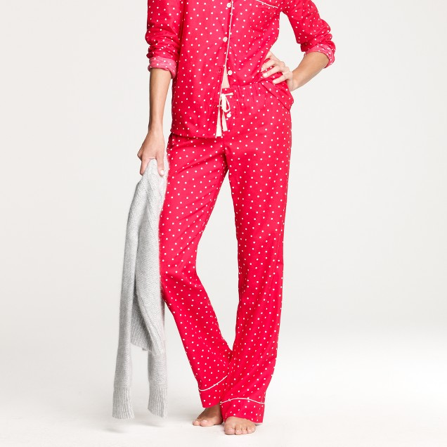 Flannel pajama pant in polka dot
